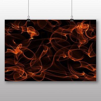 Big Box Art Flames Abstract No.2 Graphic Art on Canvas