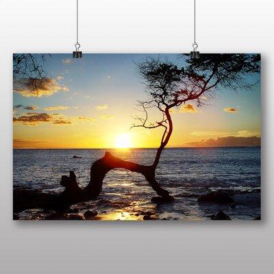 Big Box Art Hawaii Sunset No.1 Photographic Print Wrapped on Canvas