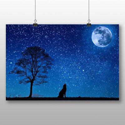 Big Box Art Howling Wolf Moon Photographic Print