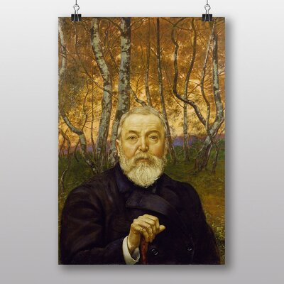 Big Box Art Hans Thoma Self Portrait in a Birch Forest Art Print
