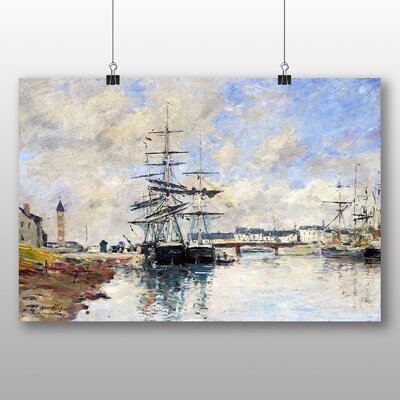 Big Box Art 'Shipe at Anchor' by Eugene Boudin Art Print