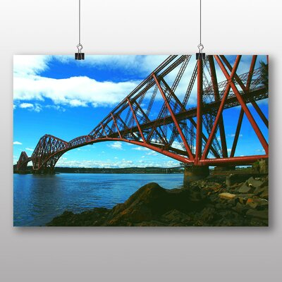 Big Box Art Forth rail Bridge Scotland Photographic Print Wrapped on Canvas