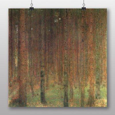 Big Box Art 'Fir Tree Forest No.2' by Gustav Klimt Art Print