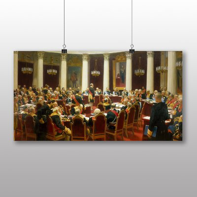 Big Box Art 'the State Council Sitting' by Ilya Repin Art Print