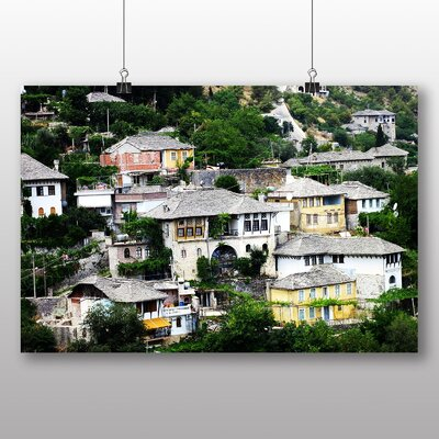 Big Box Art Houses Albania Photographic Print Wrapped on Canvas