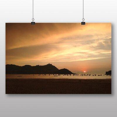 Big Box Art Evening Sky Sunset Sri Lanka Photographic Print on Canvas