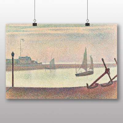 Big Box Art 'The Channel at Graveline' by Georges Pierre Seurat Art Print