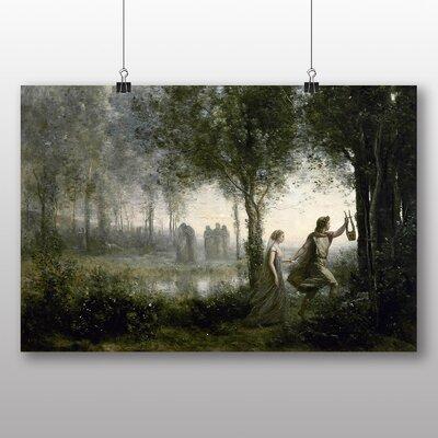 Big Box Art 'Orpheus Leading Eurydice from the Underworld' by Jean Baptiste Camille Corot Art Print