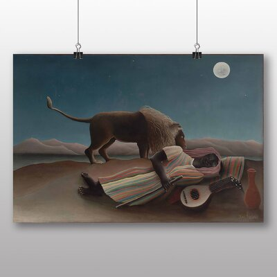 Big Box Art 'La Bohemienne Endormie' by Henri Rousseau Art Print
