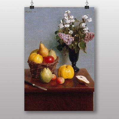 "Big Box Art ""Still Life Fruit with Flowers"" by Henri Fantin-Latour Art Print"