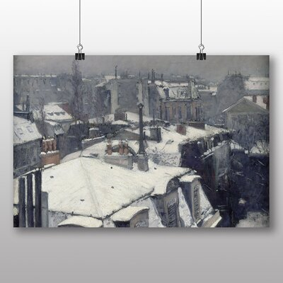 Big Box Art 'Rooftops in the Snow' by Gustave Caillebotte Art Print
