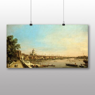 Big Box Art The Thames, Somerset House' by Giovanni Canaletto Art Print