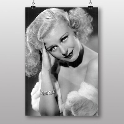 Big Box Art Ginger Rogers No.1 Photographic Print Wrapped on Canvas