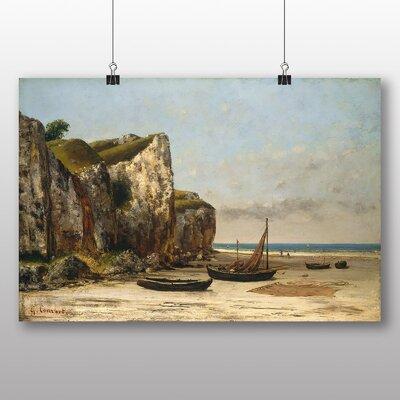 Big Box Art 'Normandy Beach' by Gustave Courbet Art Print