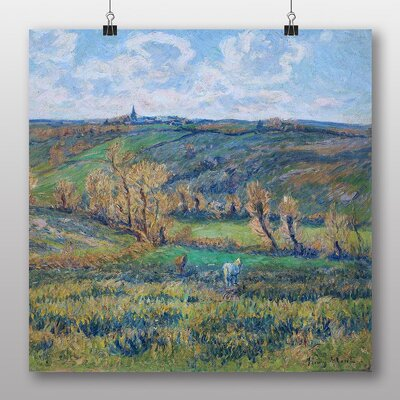 Big Box Art 'The White Horse in the Valley' by Henry Moret Art Print