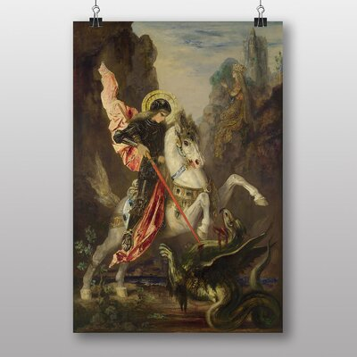 Big Box Art George and the Dragon by Gustave Moreau Art Print