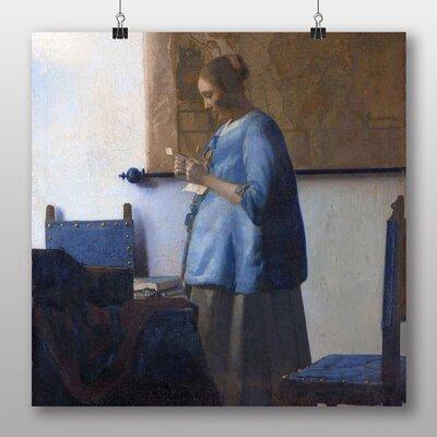 Big Box Art 'Woman in Blue Reading a Letter' by Johannes Vermeer Art Print
