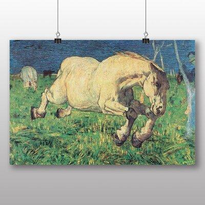 Big Box Art 'White Horse' by Giovanni Segantini Art Print