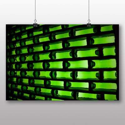 Big Box Art Green Bottles Photographic Print Wrapped on Canvas