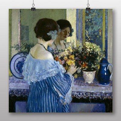 Big Box Art 'Woman in Blue' by Frederick Carl Frieseke Art Print