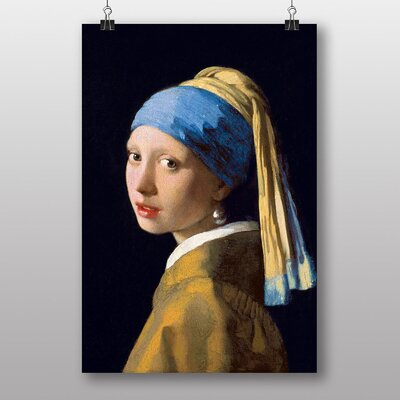 Big Box Art The Girl with the Pearl Earring by Johannes Vermeer Art Print