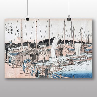 "Big Box Art ""Japanese Oriental No.34"" by Hiroshige Art Print"