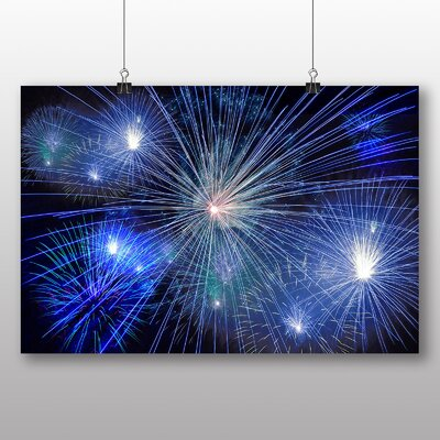 Big Box Art Fireworks at Night No.6 Photographic Print