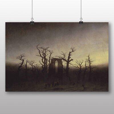 Big Box Art 'The Abbey and the Oakwood' by Caspar David Friedrich Art Print