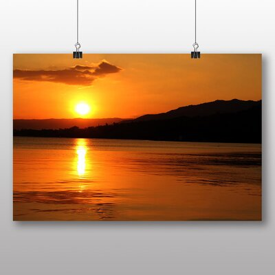 Big Box Art Golden Sunset Photographic Print Wrapped on Canvas