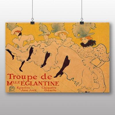 Big Box Art 'Kicking it Up' by Henri de Toulouse-Lautrec Vintage Advertisement