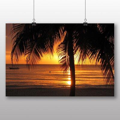 Big Box Art Jamaica Sunset No.2 Photographic Print Wrapped on Canvas