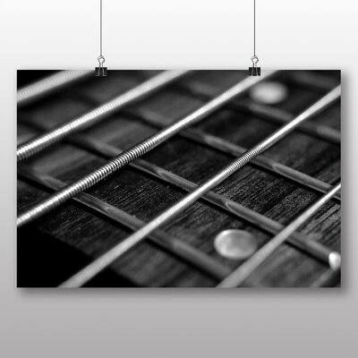 Big Box Art Guitar Strings No.1 Photographic Print Wrapped on Canvas