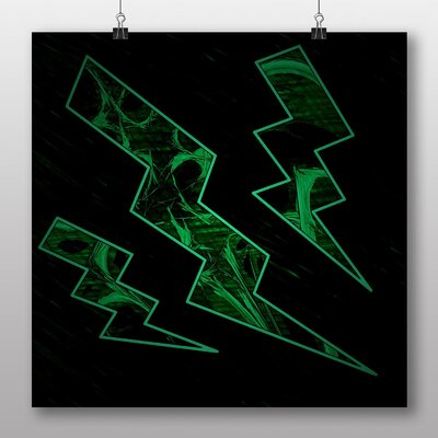 Big Box Art Flash Abstract No.1 Graphic Art Wrapped on Canvas
