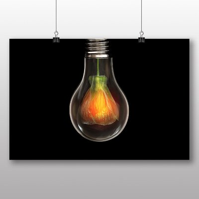 Big Box Art Flower within Light Bulb Abstract No.1 Graphic Art Wrapped on Canvas