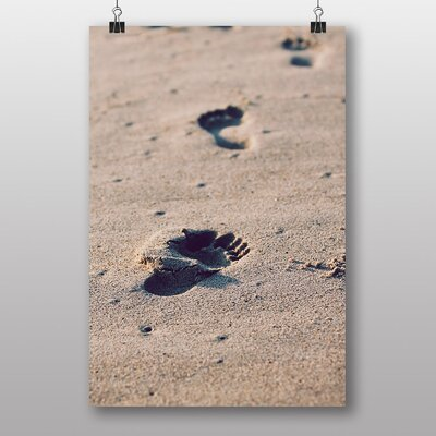 Big Box Art Footprints in The Sand Photographic Print