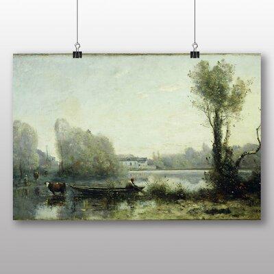 Big Box Art Landscape' by Jean Baptiste Camille Corot Art Print