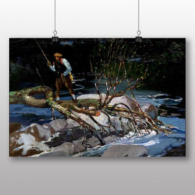 Big Box Art 'Trout Fishing' by George Luks Art Print