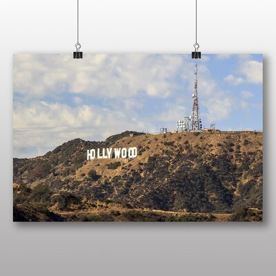 Big Box Art Hollywood Sign Los Angeles California USA No.2 Photographic Print Wrapped on Canvas