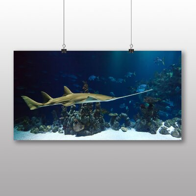 Big Box Art Guitar Fish Guitarfish Photographic Print Wrapped on Canvas