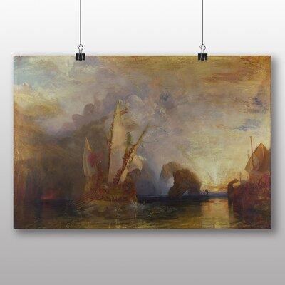 Big Box Art 'Ulysses Deriding Polyphemus Homers Odyssey' by Joseph Mallord William Turner Art Print