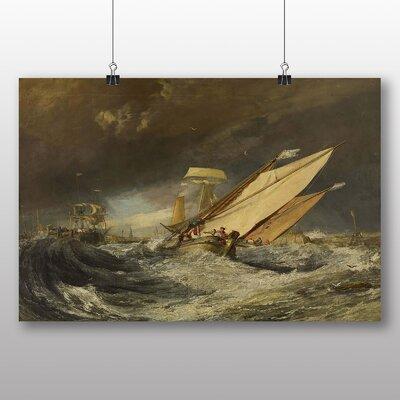 Big Box Art 'Fishing Boats Entering Callais' by Joseph Mallord William Turner Art Print