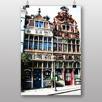 Big Box Art Ghent Belgium No.1 Photographic Print Wrapped on Canvas