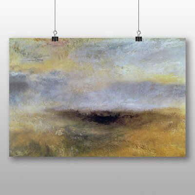 Big Box Art 'Seascape with Storm Coming' by Joseph Mallord William Turner Art Print