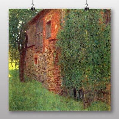 Big Box Art 'House in a Field' by Gustav Klimt Art Print