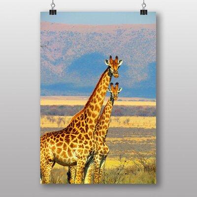 Big Box Art Giraffes Photographic Print Wrapped on Canvas