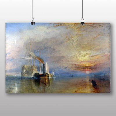 Big Box Art 'The Fighting Temeraire' by Joseph Mallord William Turner Art Print