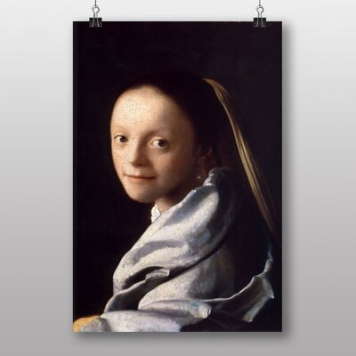 Big Box Art Study of a Young Woman by Johannes Vermeer Art Print
