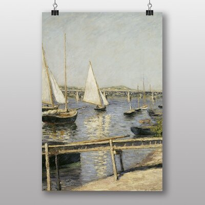 Big Box Art Sailing Boats at Argenteuil by Gustave Caillebotte Art Print