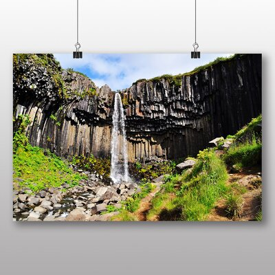 Big Box Art Iceland Waterfall Photographic Print on Canvas