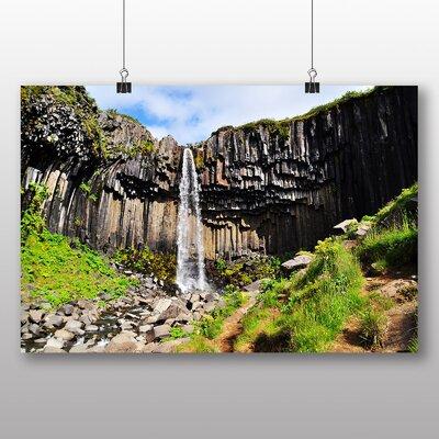 Big Box Art Iceland Waterfall Photographic Print